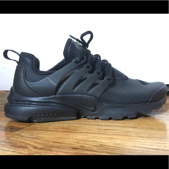 sports shoes 49392 9fa76 Black Leather Nike Air Presto Premium